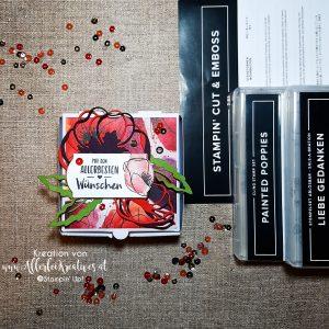 Verpackung mit dem Stempelset Painted Poppies aus dem neuen Stampin' Up! Minikatalog